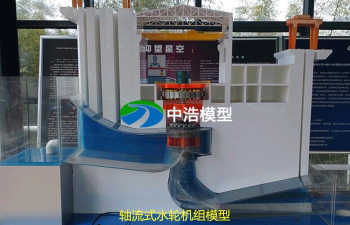 轴流式水轮机组模型