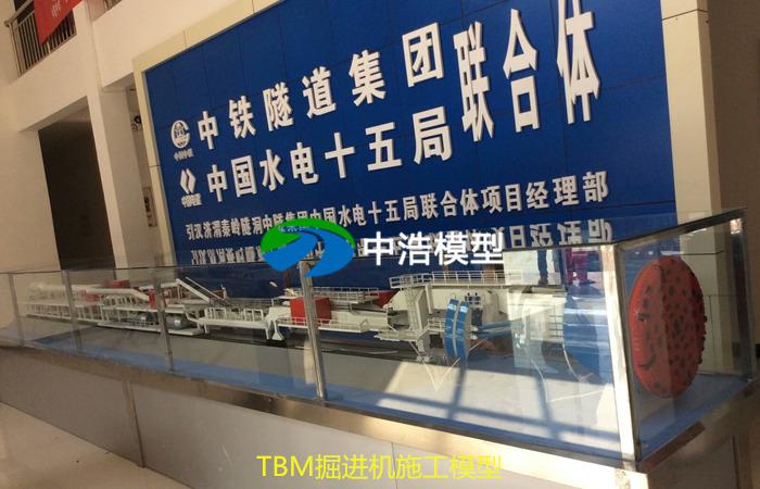 TBM掘进机施工模型