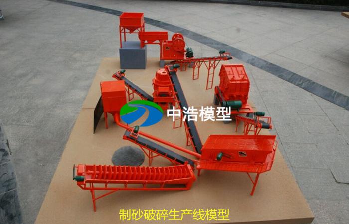 制砂破碎生产线模型