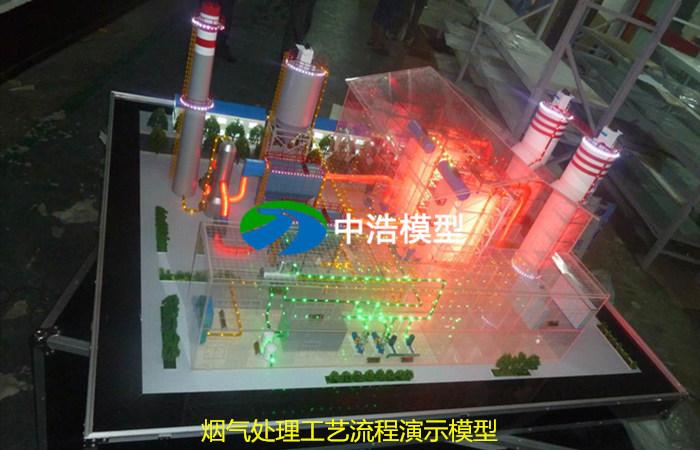 烟气处理工艺流程演示模型