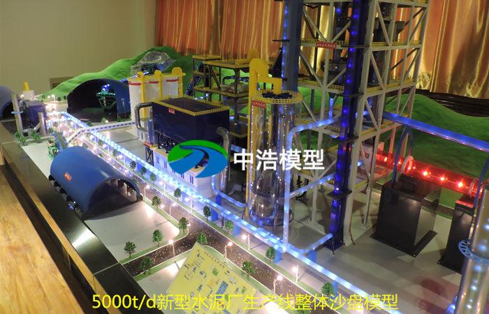 5000t/d新型水泥厂生产线整体沙盘模型